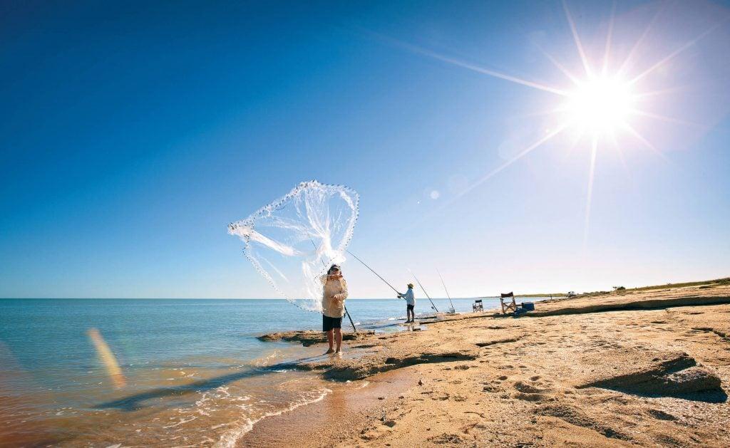 Man fishing near Karumba