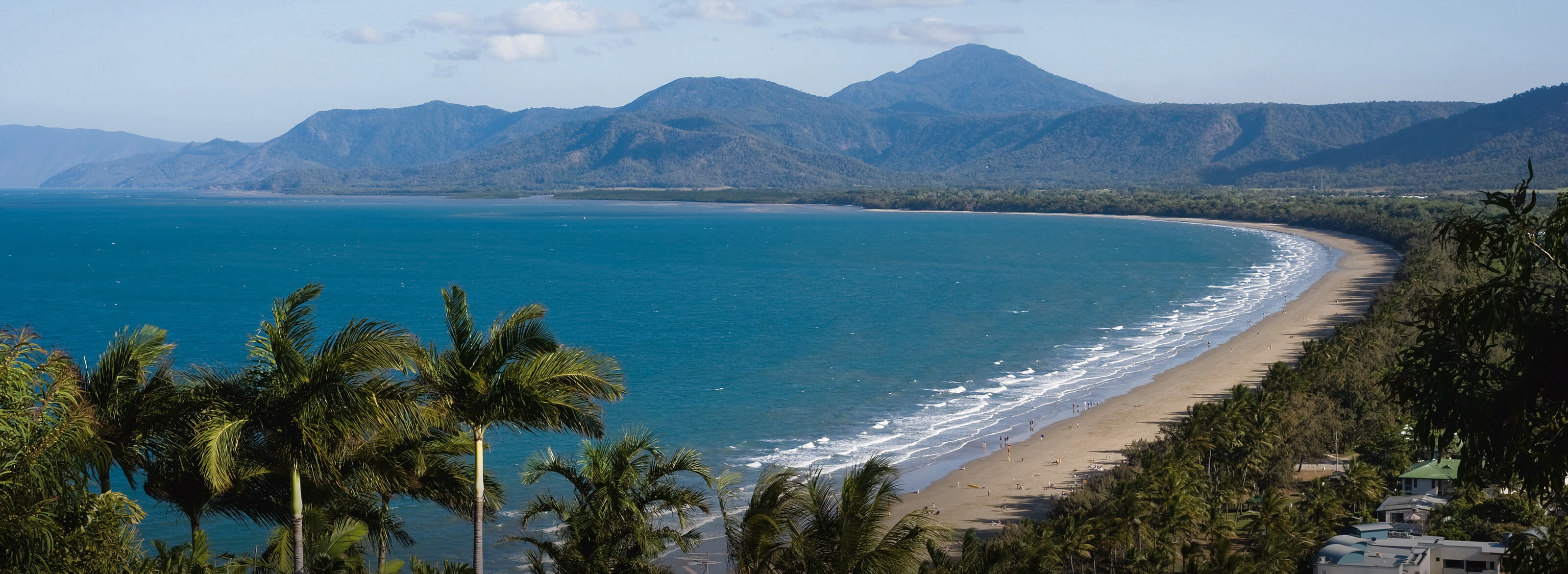 View of four mile beach from lookout