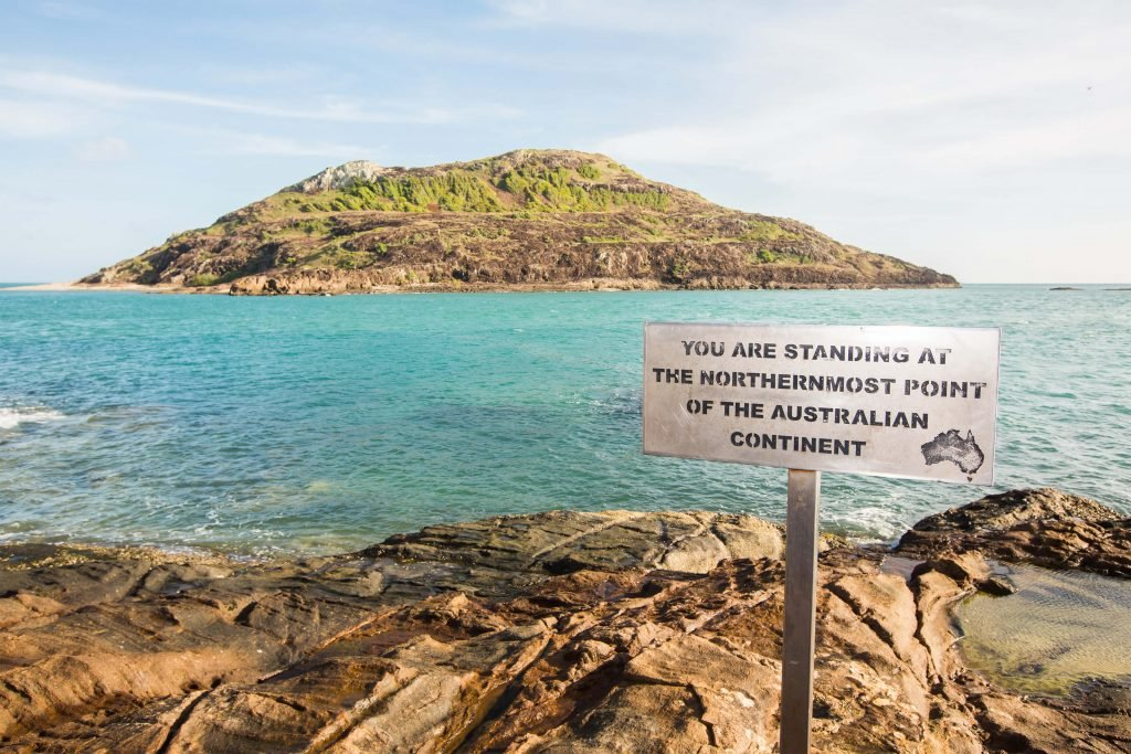 Tip of Cape York Peninsula sign