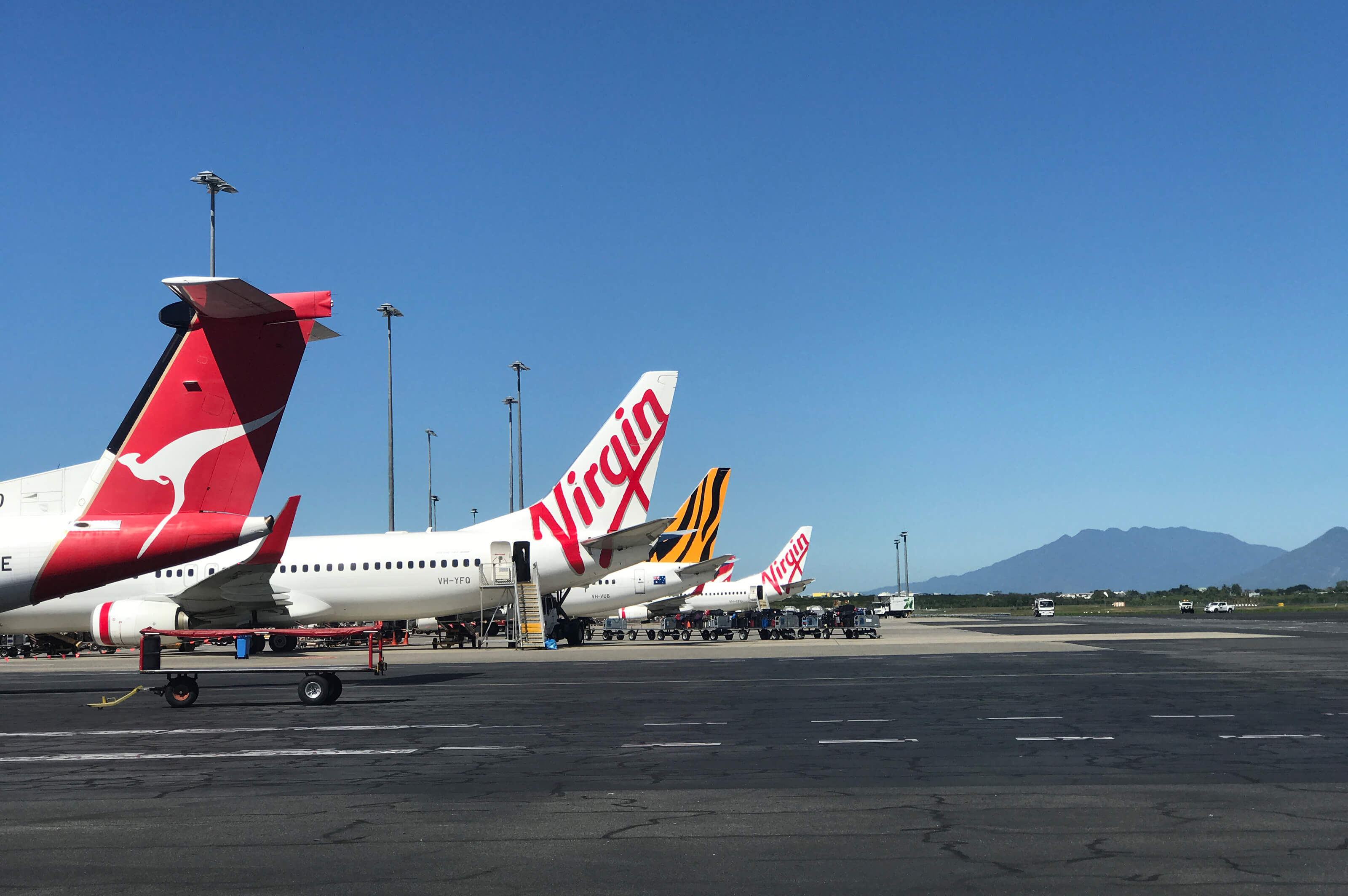 Planes on tarmac at Cairns