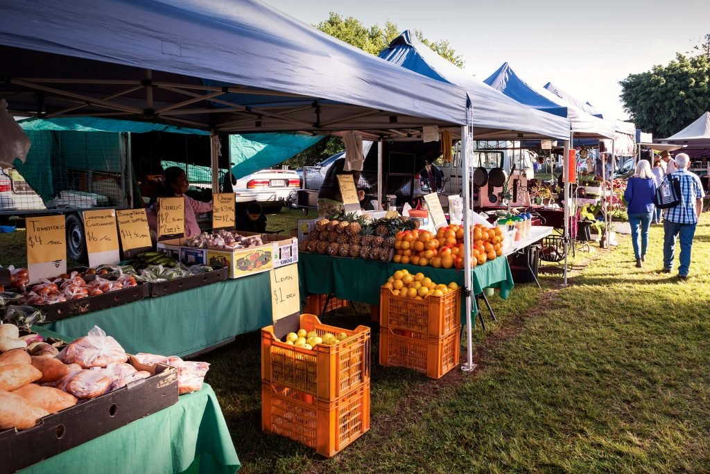 Stalls at Yungaburra Markets
